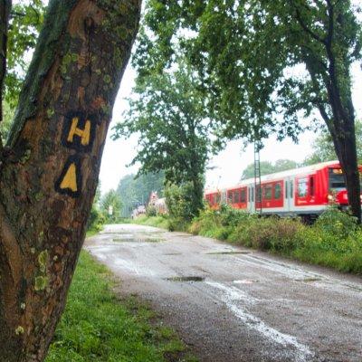 Wanderweg mit Zug
